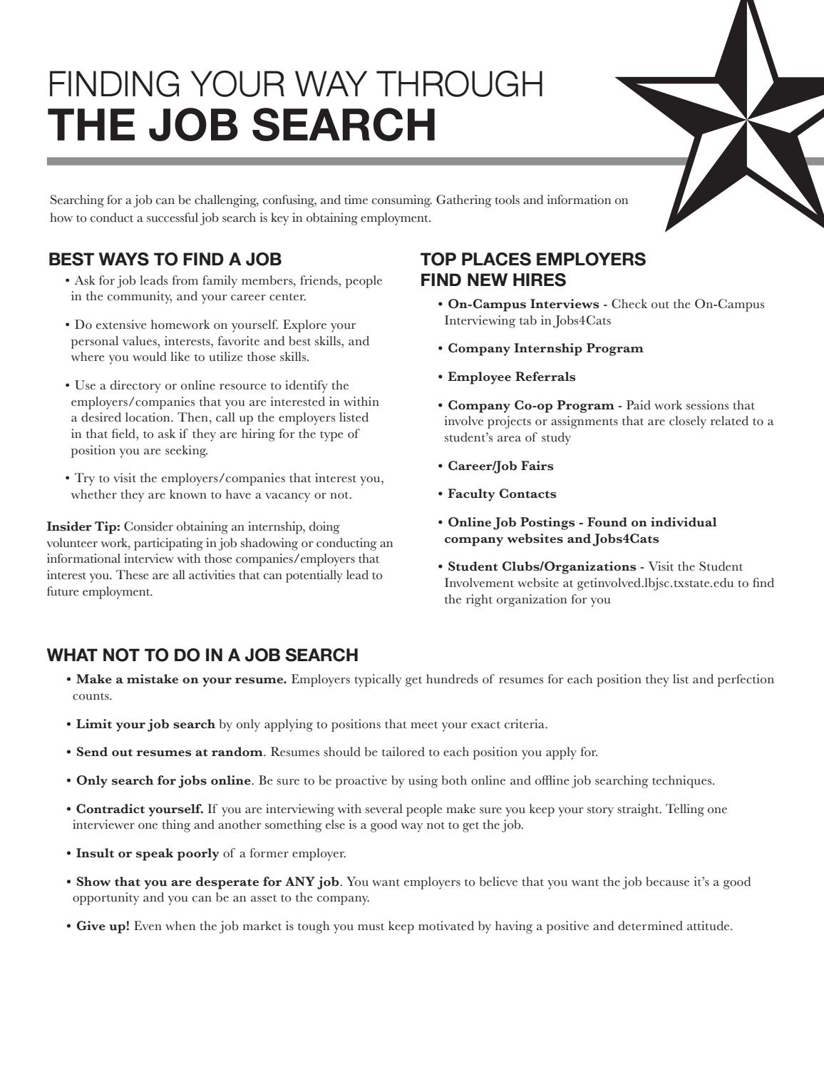 how to get job leads