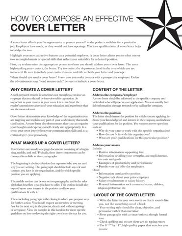 Cover letter guide by UNCG Career Services Center - issuu