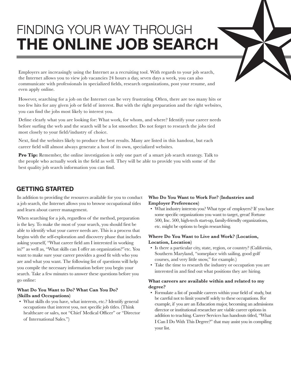 The Online Job Search By Texas State University Career Services   Issuu