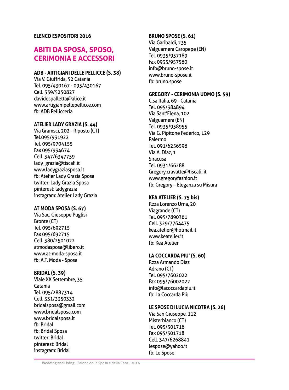 Interni Attaguile Grammichele Ct elenco espositori by expoct - issuu