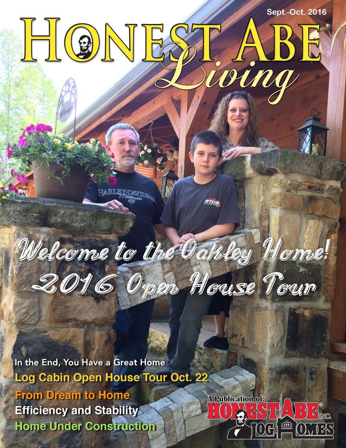 Honest Abe Living Sept Oct 2016 by Honest Abe Log Homes