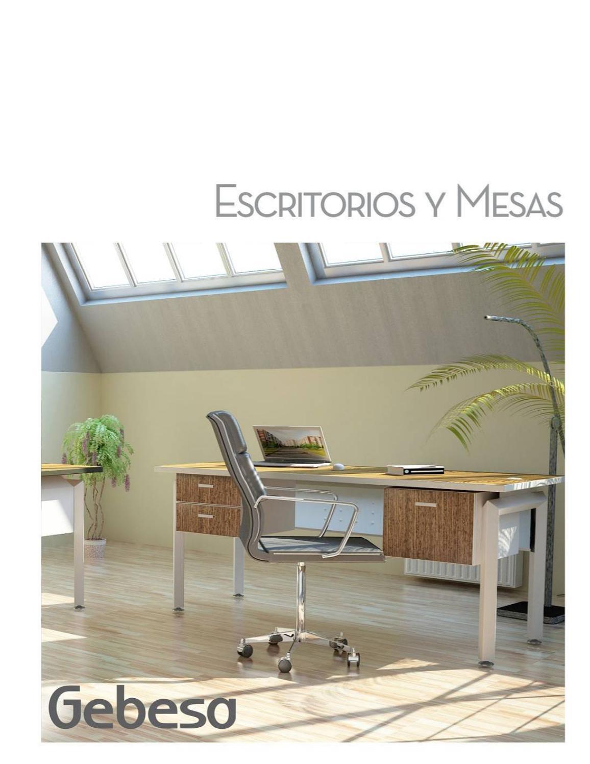 Cat logo escritorios y mesas by gebesa issuu - Catalogo escritorios ...