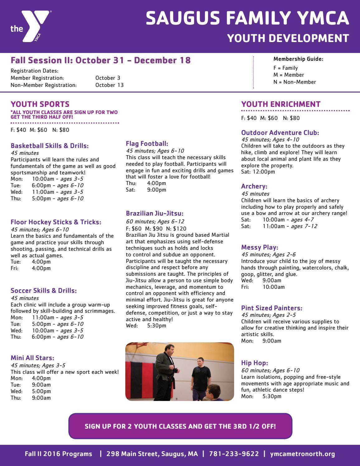 Saugus Fall II Programs by YMCA of Metro North - issuu