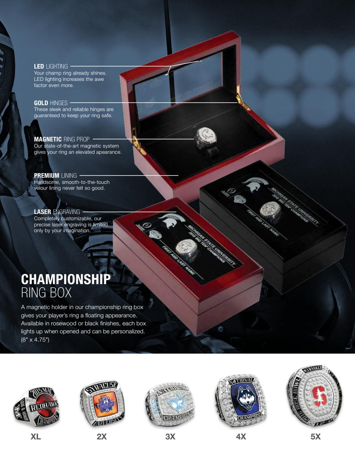 Jostens College Championship Sports Jewelry Catalog by Jostens - issuu