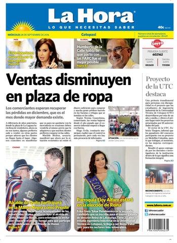 Cotopaxi 28 de septiembre del 2016 by Diario La Hora Ecuador - issuu f0f53e78a98cf