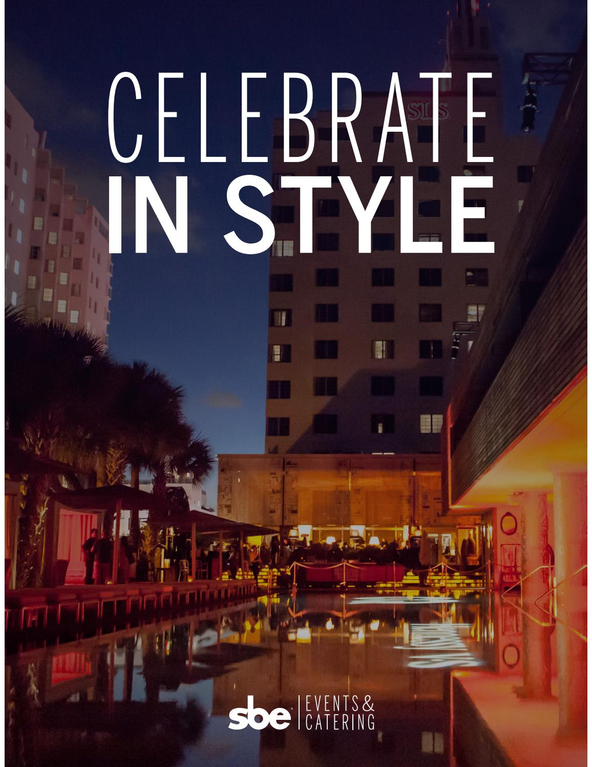 Sbe Events Catering Brochure 2016 By