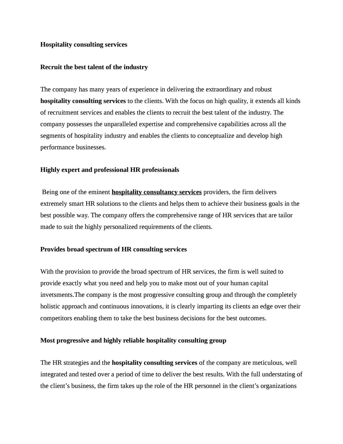 segments of hospitality industry