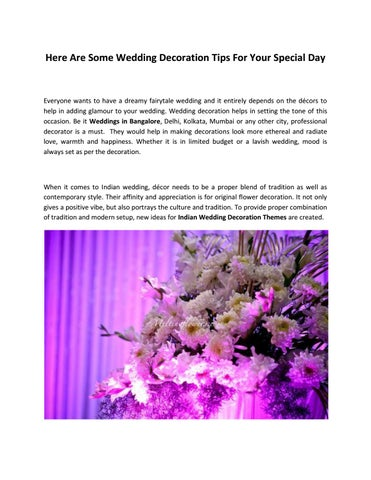 Here are some wedding decoration tips for your special day by syed page 1 here are some wedding decoration tips junglespirit Images