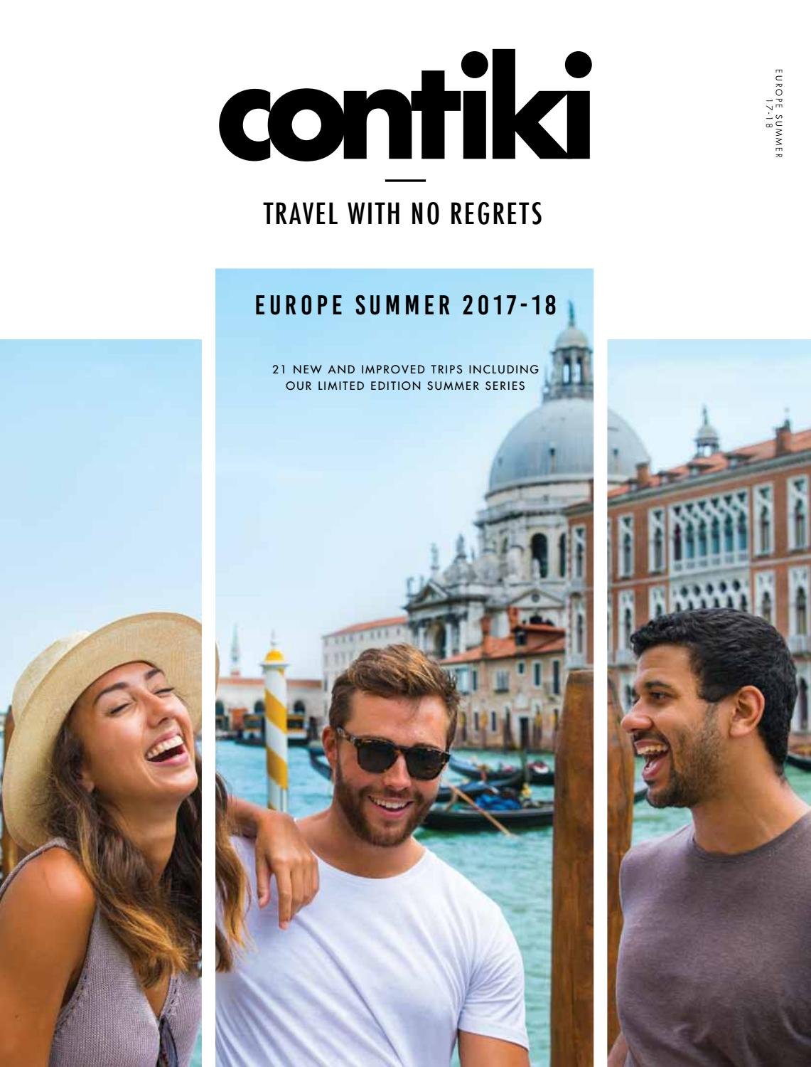 Contiki Holidays Europe Summer eBrochure 201718