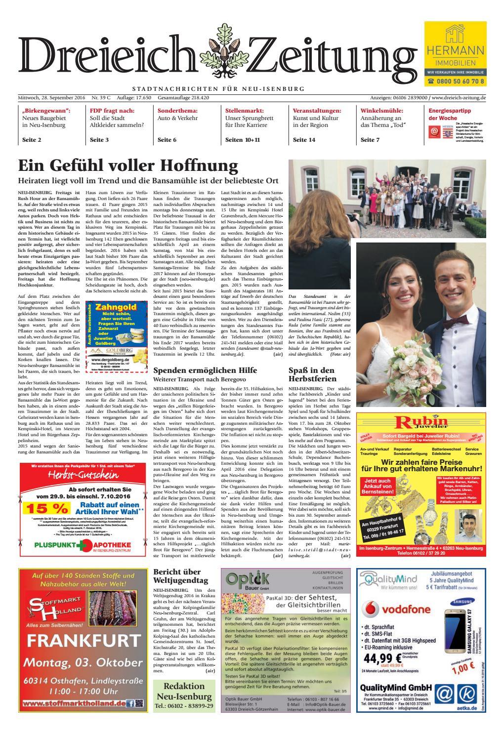 Dz Online 039 16 C By Dreieich Zeitung Offenbach Journal Issuu