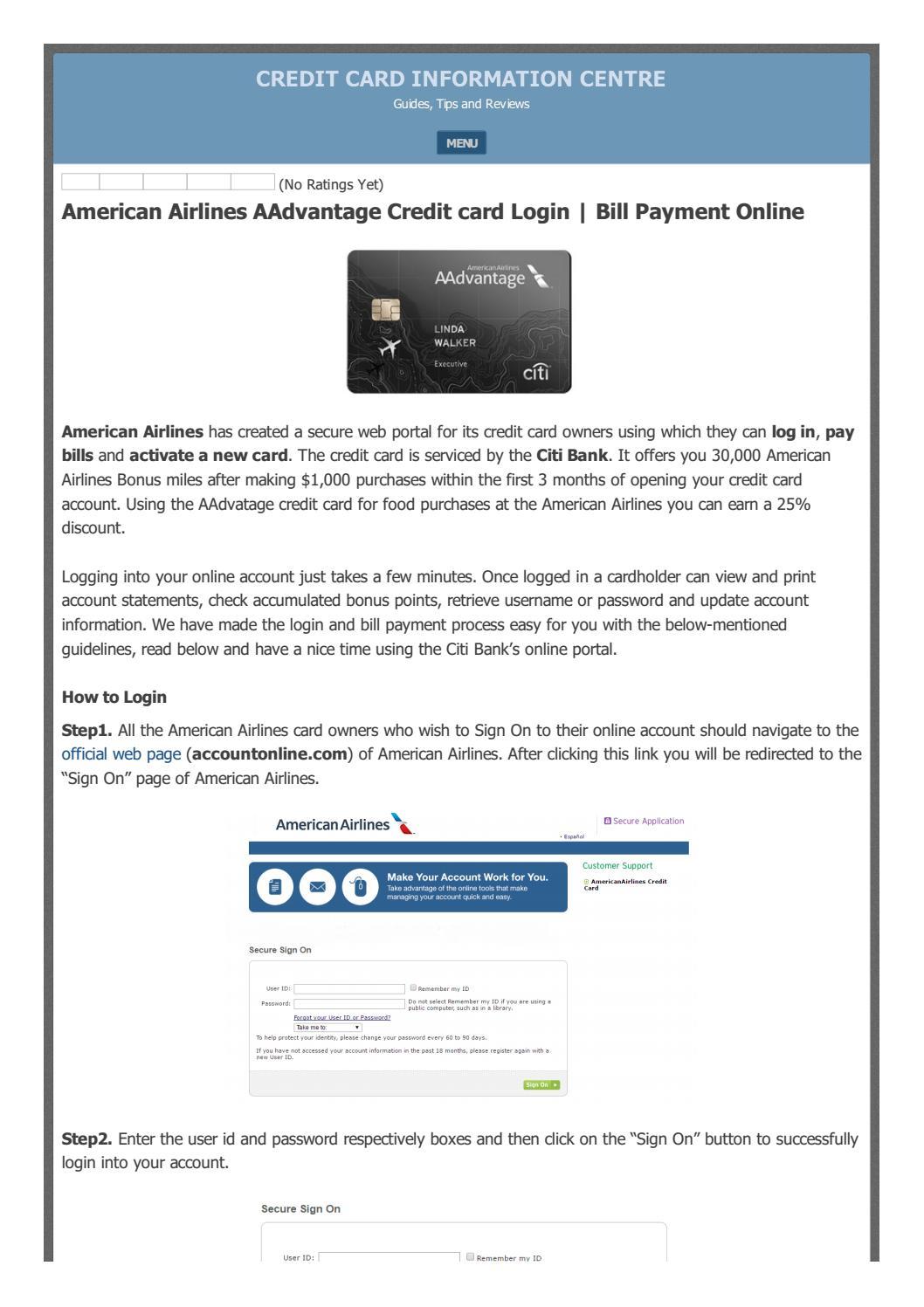 American Airlines Citibusiness Card Login - Best Car 2017