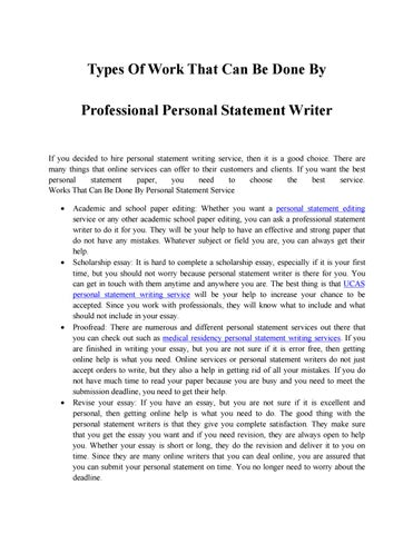 types of personal writing