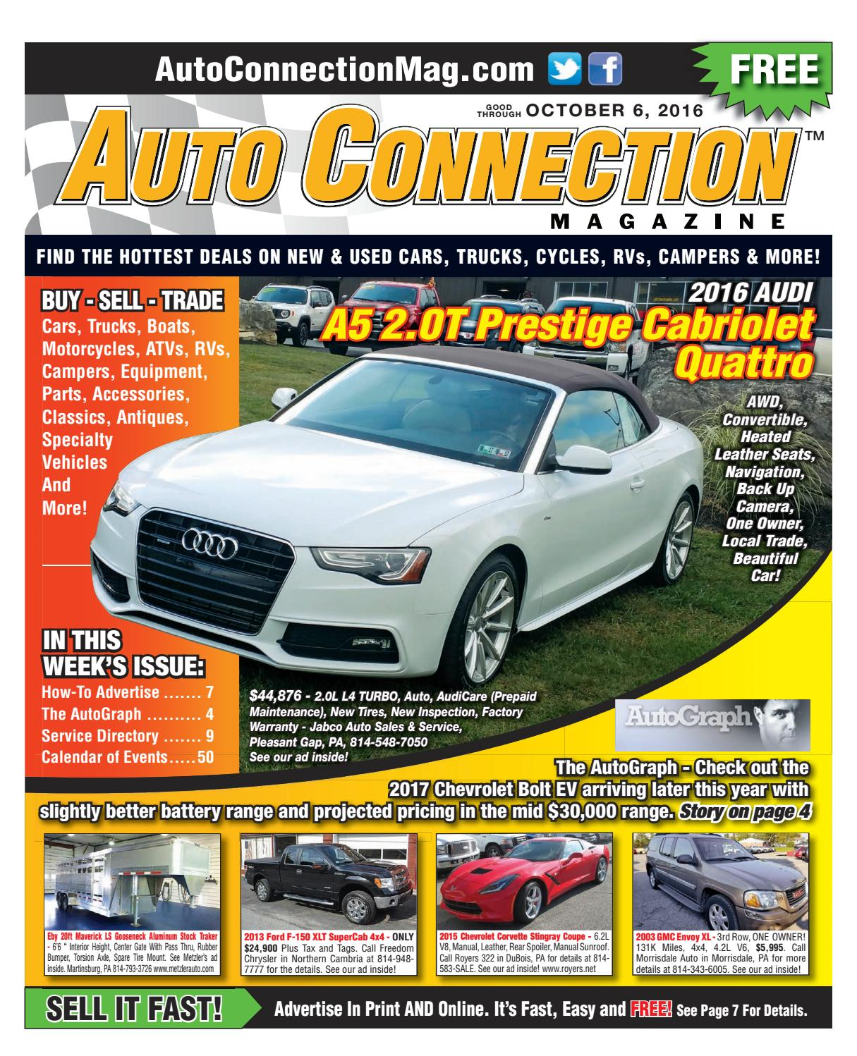 10 06 16 Auto Connection Magazine By Issuu Alternator Wiring Harness Concours 390 Xr7 Repro 1967