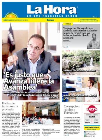 Diario la hora zamora 28 de septiembre 2016 by Diario La Hora ... bfab84673517a
