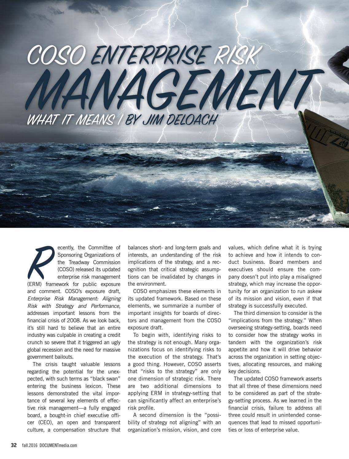 Coso 2016 enterprise risk management aligning risk with strategy - Coso 2016 Enterprise Risk Management Aligning Risk With Strategy 25