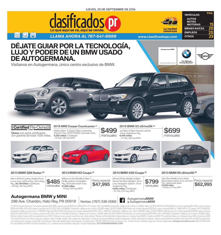 ClasificadosPR 09 29 2016 By ClasificadosPR.com