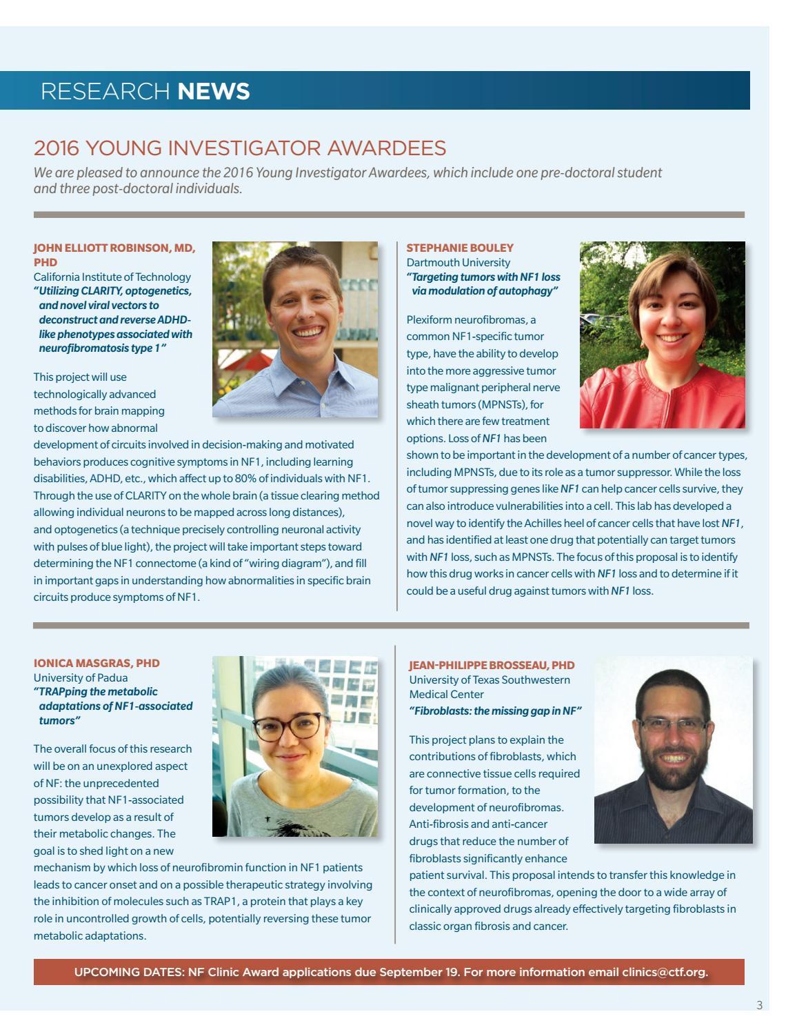 Children's Tumor Foundation - NF News - Vol  III, Fall 2016