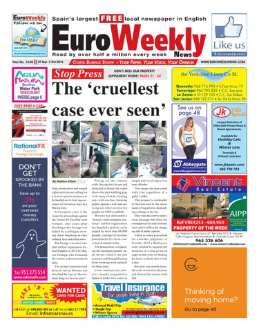 Euro weekly news costa blanca south 29 september 5 october 2016 page 1 fandeluxe Choice Image