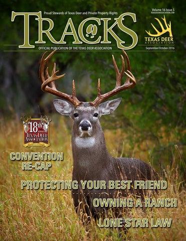 September/October 2016 TRACKS Issue by Texas Deer