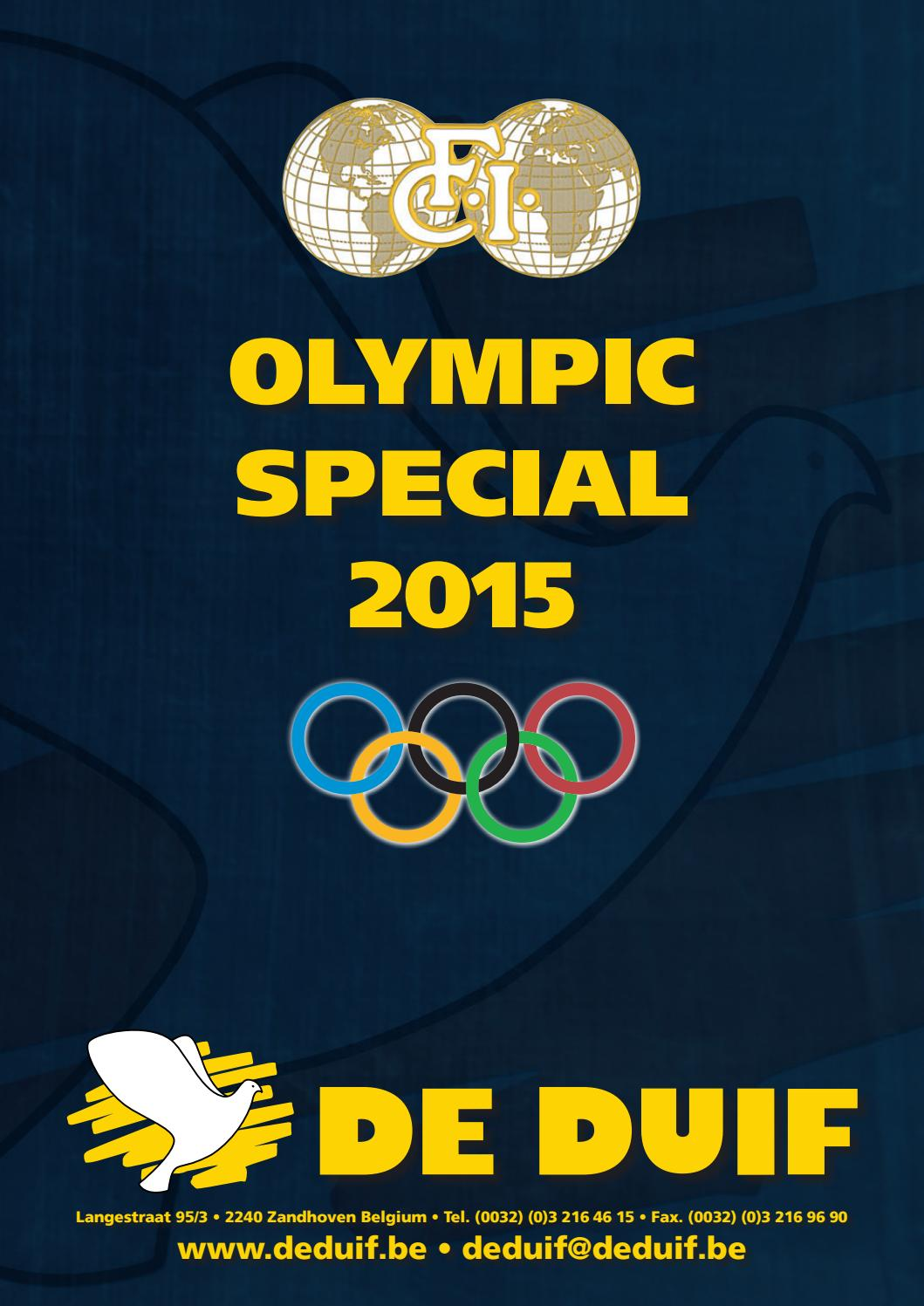 OLYMPIC SPECIAL 2015 by De Duif - issuu