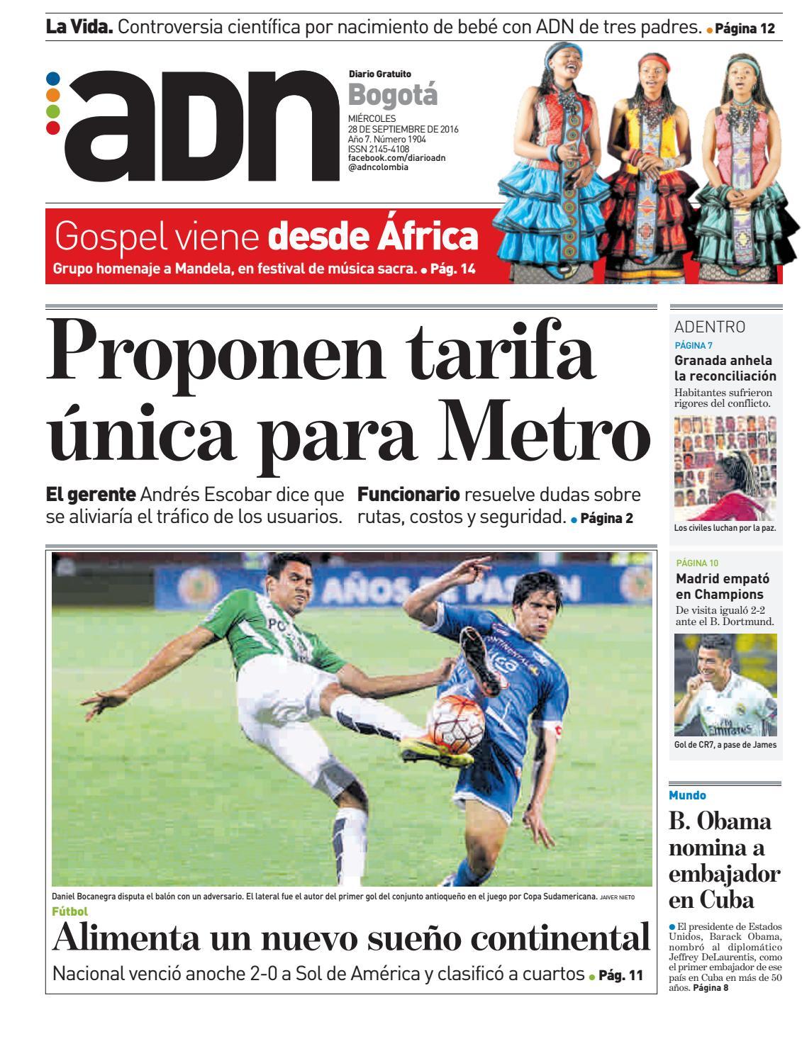 ADN Bogotá, Septiembre 28 de 2016 by diarioadn.co - issuu