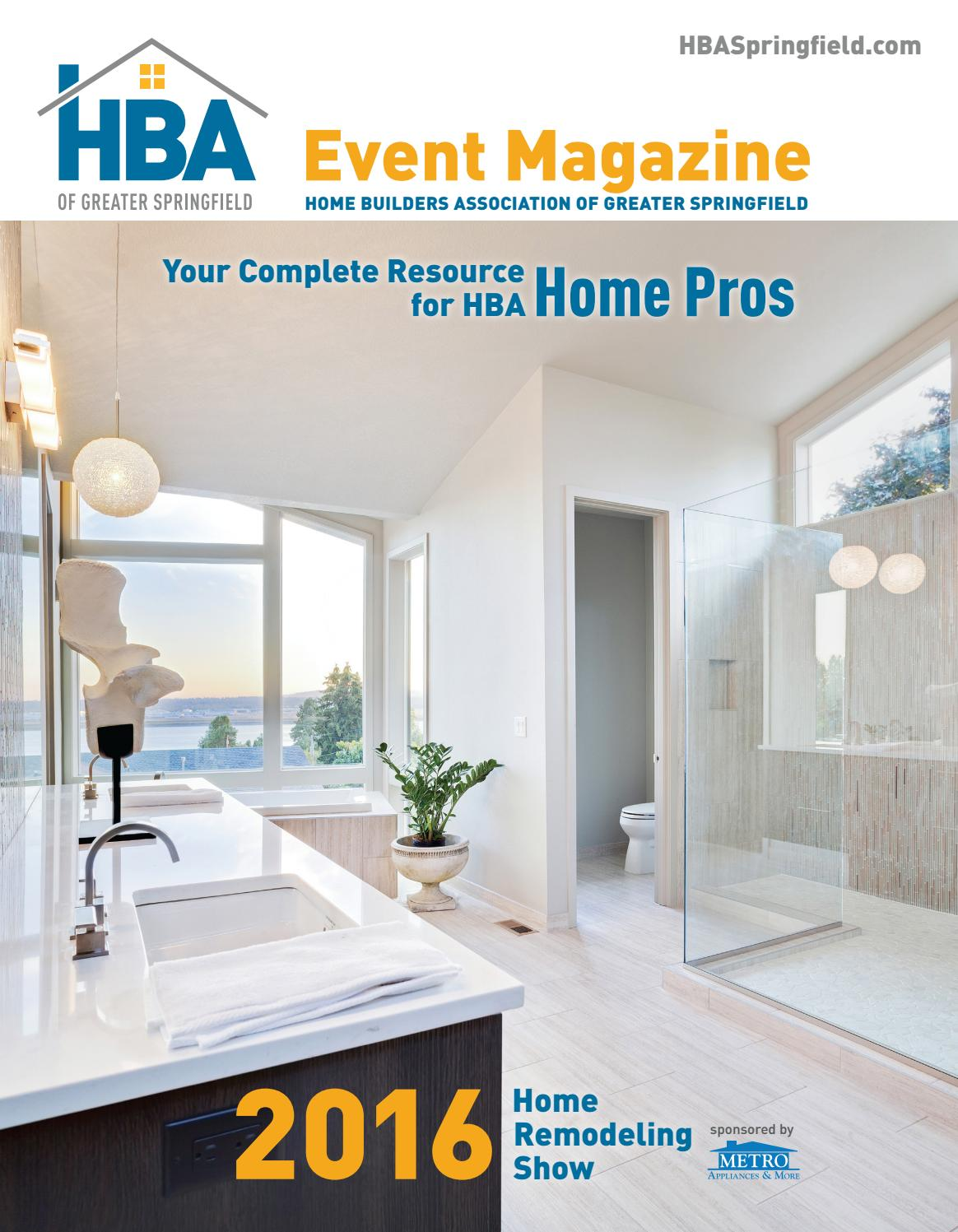 Hba Event Magazine Home Remodeling Show 2016 Edition By