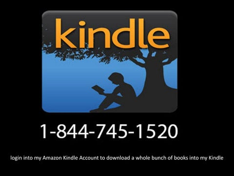Login into my amazon kindle account to download a whole