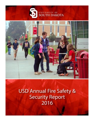 Usd Vermillion Campus Map.Usd Fire Safety Security Report 2016 By The Volante Issuu