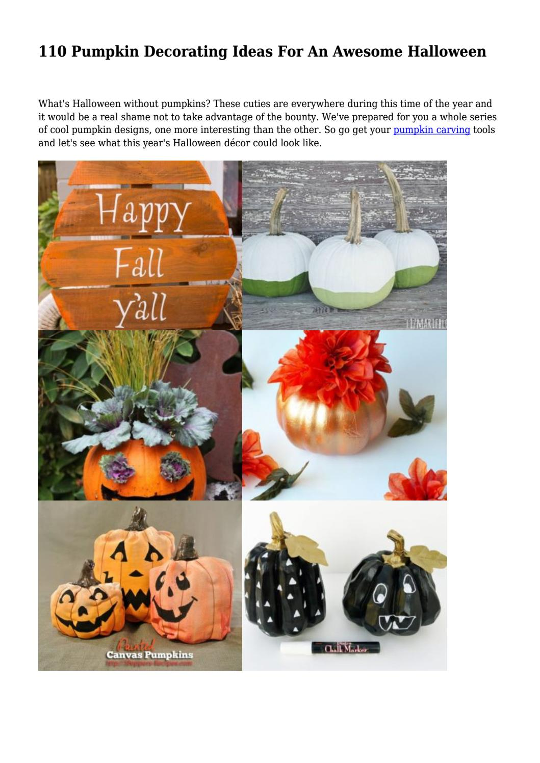 110 Pumpkin Decorating Ideas For An Awesome Halloween By