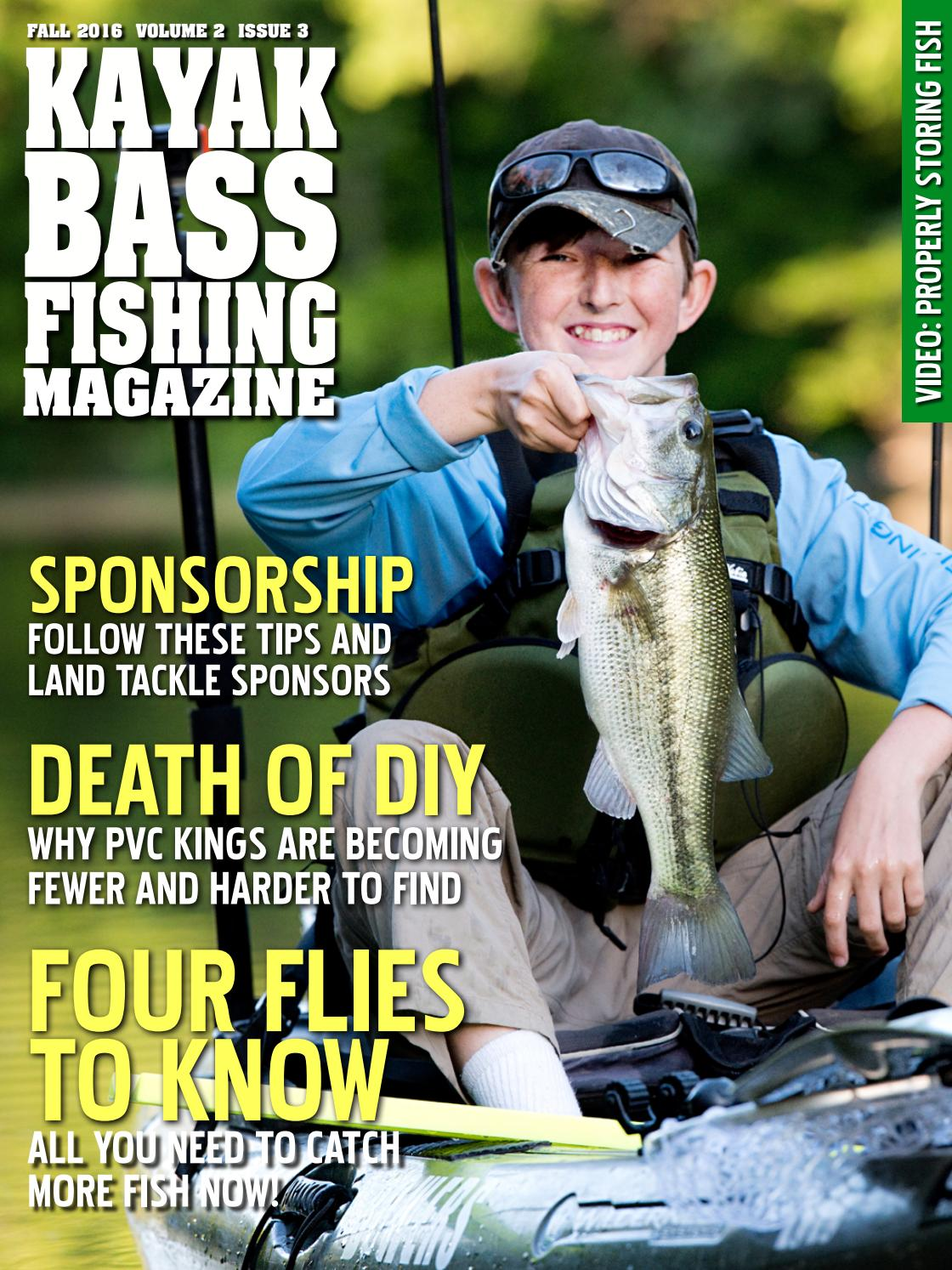 Kayak bass fishing magazine fall 2016 by crooked creek for Bass fishing magazine