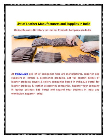 Leather manufacturers and supplies in india