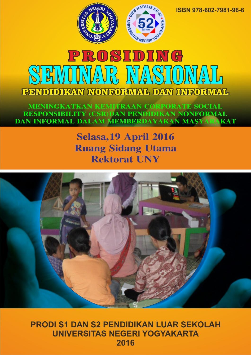 Prosiding Seminar Csr Cover Dan Isi Tanpa Materi Narasumber Hal Rkb Tegal Madu Mongso Awal By Elsa Sakarin Issuu