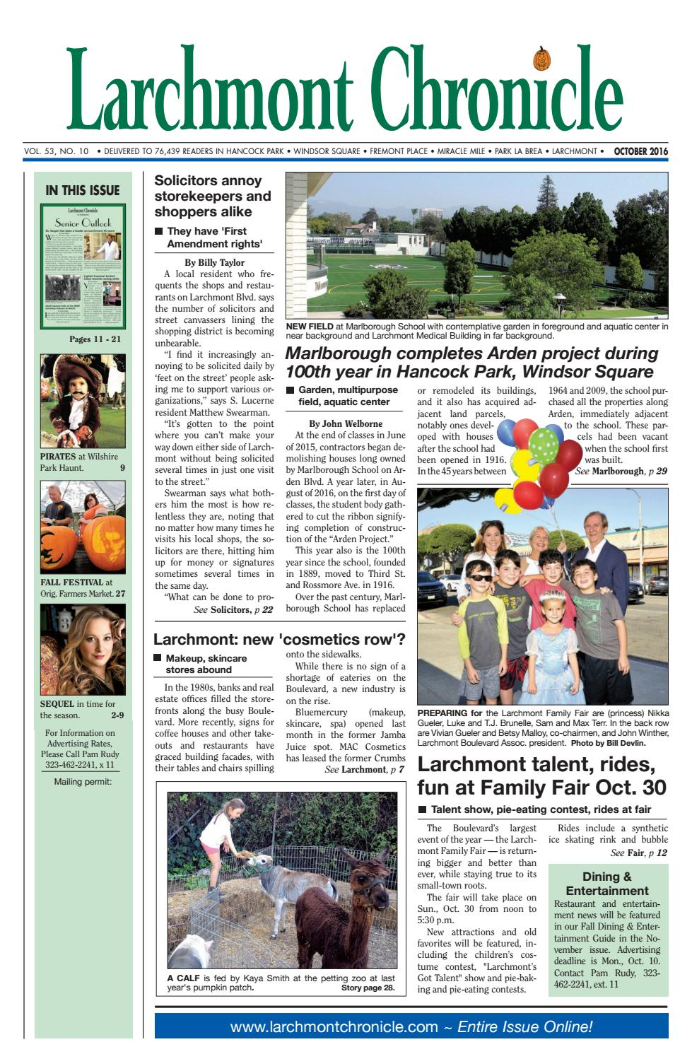 1322b42600 LC 10 2016 by Larchmont Chronicle - issuu