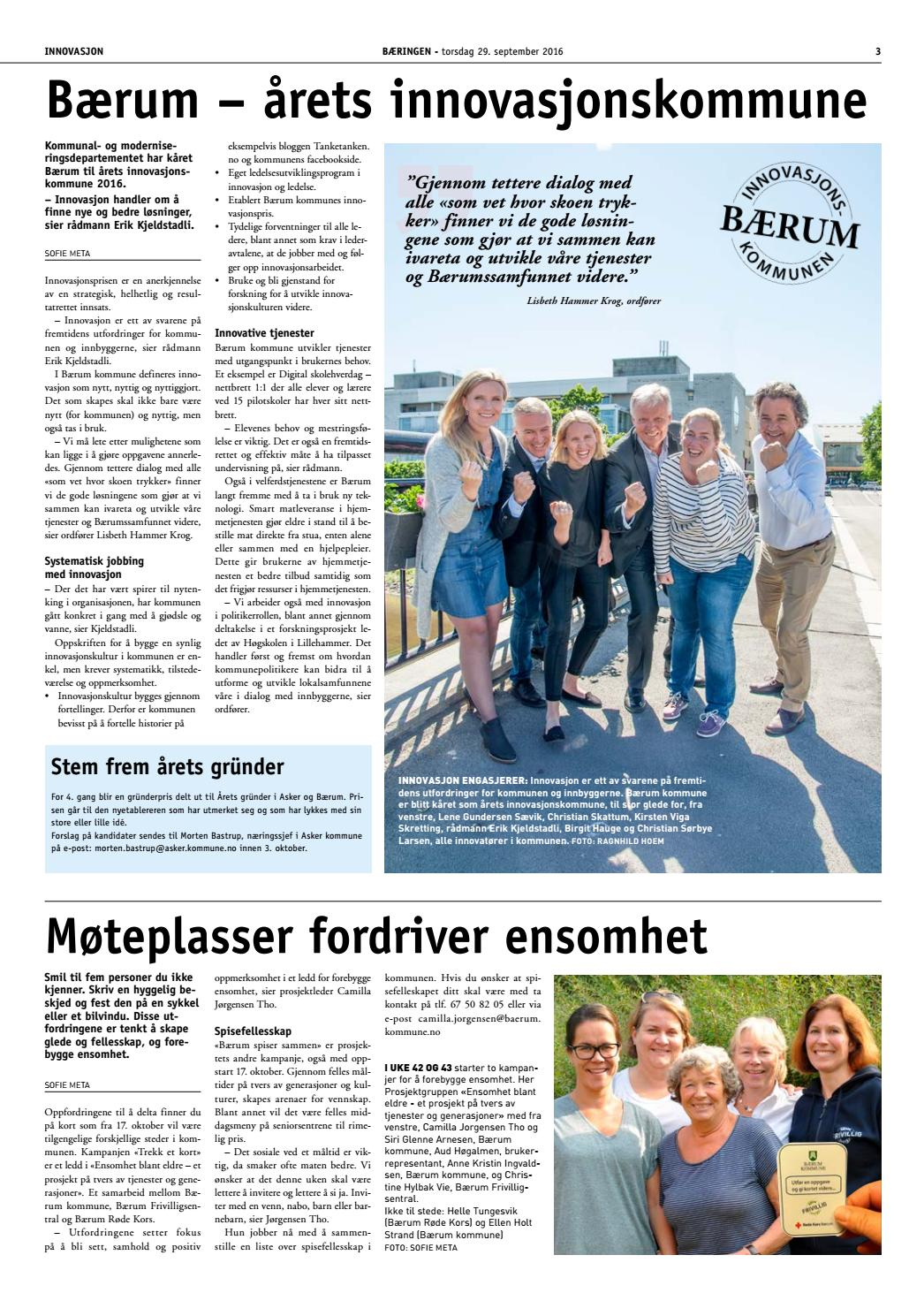 Bærum Issuu By 2016 Bæringen 5 Kommune thQrsdC