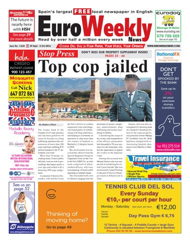Euro weekly news costa del sol 29 september 5 october 2016 issue page 1 fandeluxe Gallery