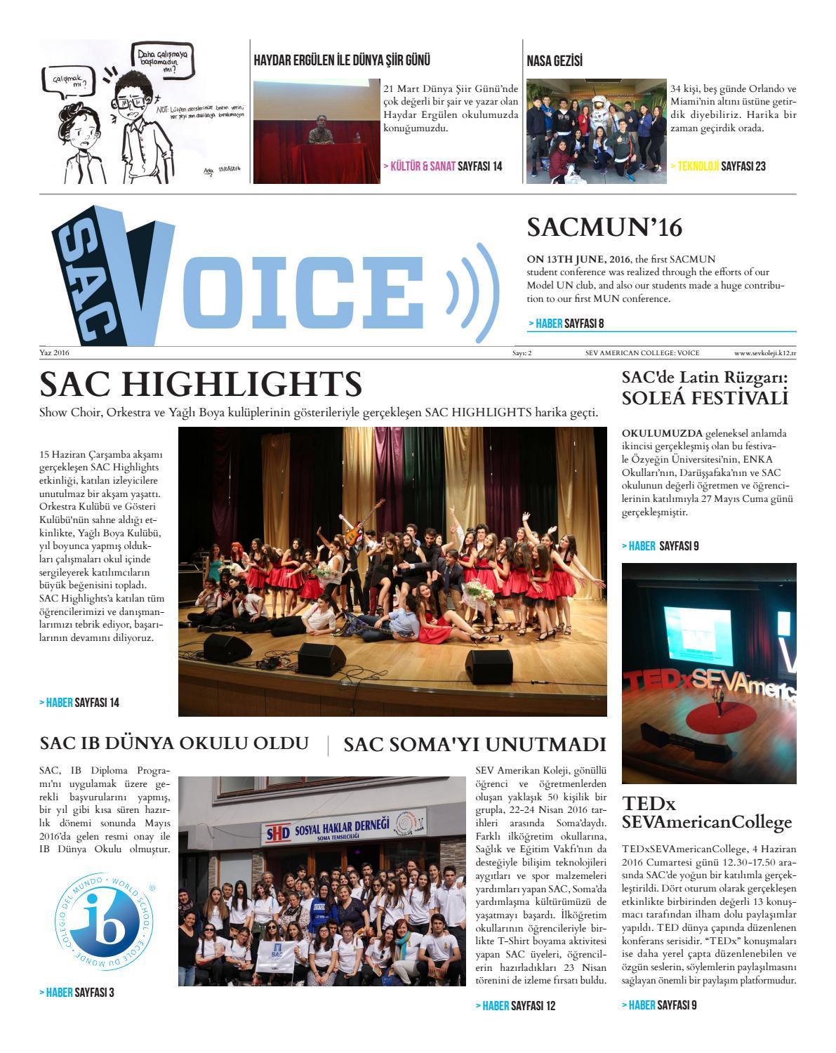 Sac Voice 2016 2 By Sev American College Issuu
