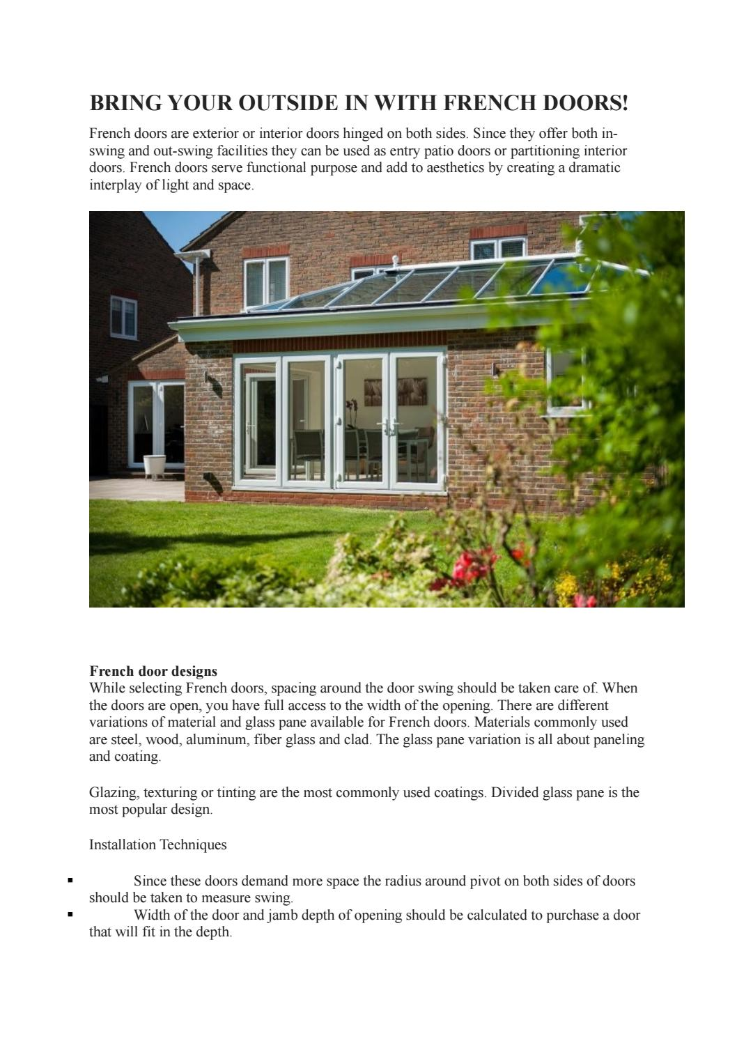 Bring Your Outside In With French Doors By Lordshipwindowsltd Issuu