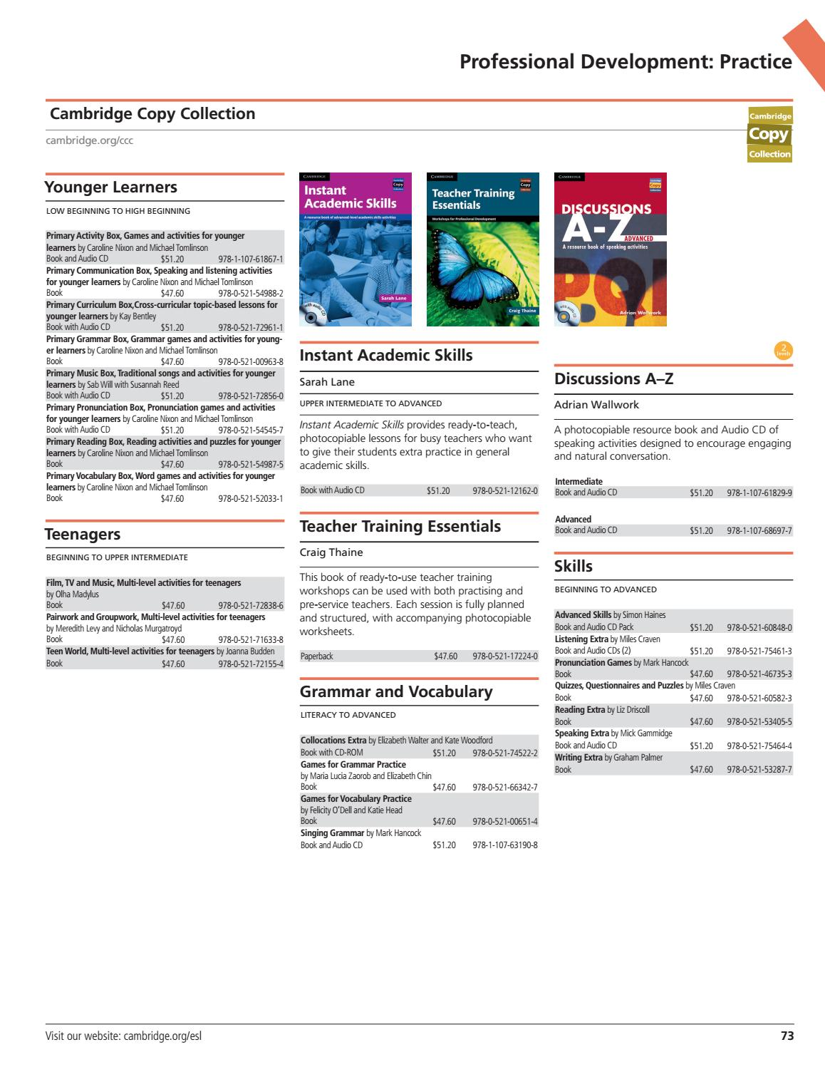 Cambridge University Press - 2017 ESL Catalog - United States by Cambridge  University Press - issuu
