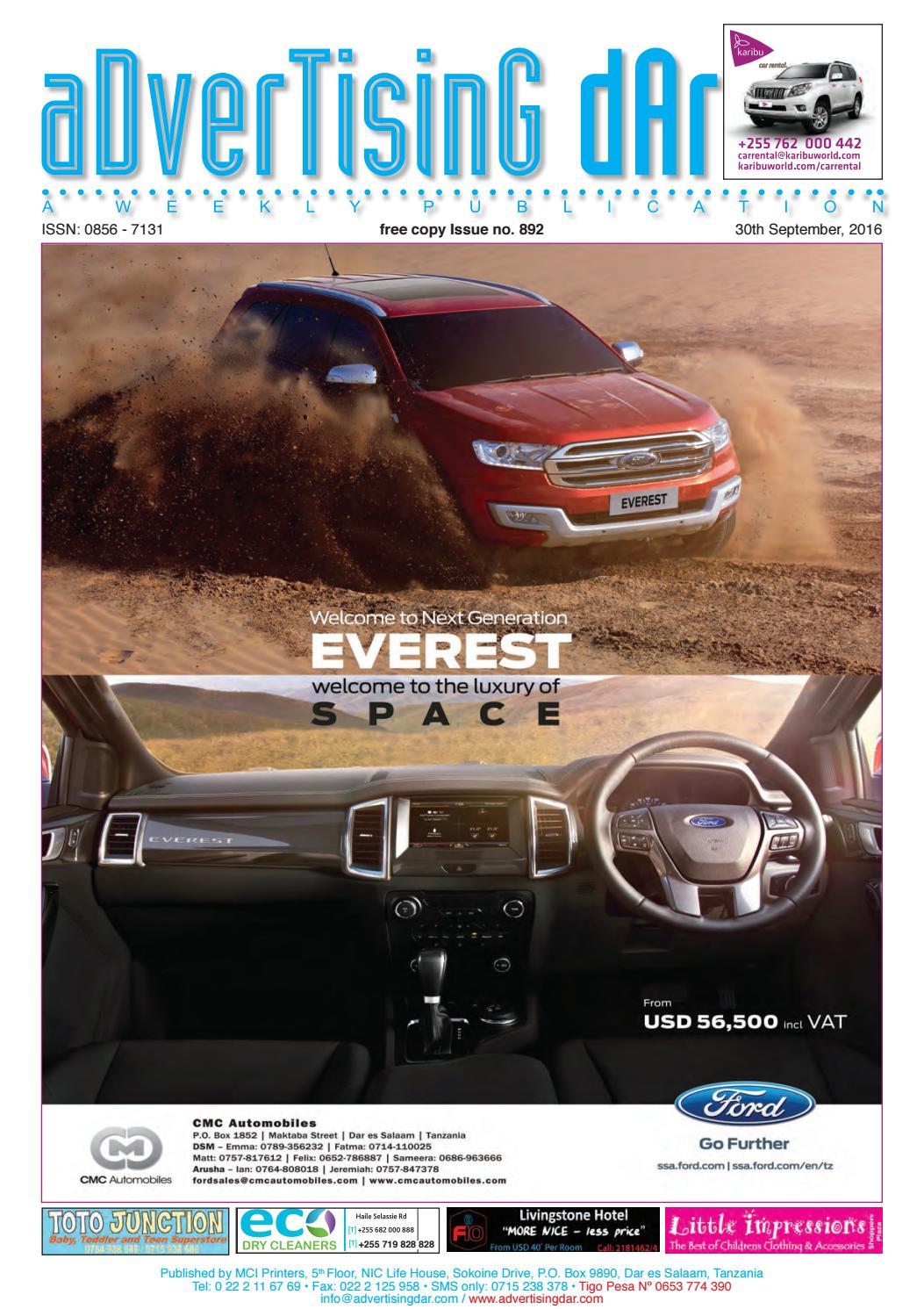 Advertising Dar Issue Nº 892 - 30th September 2016 by Advertising ...