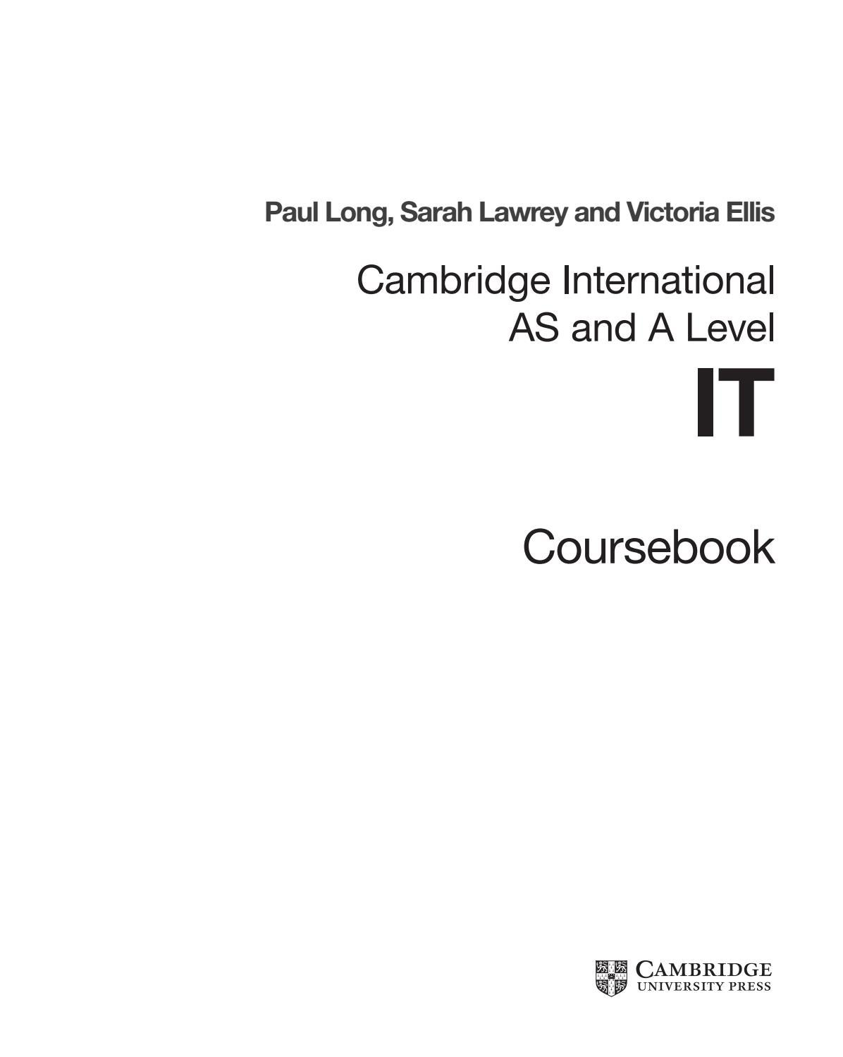 Preview Cambridge International AS and A Level IT Coursebook