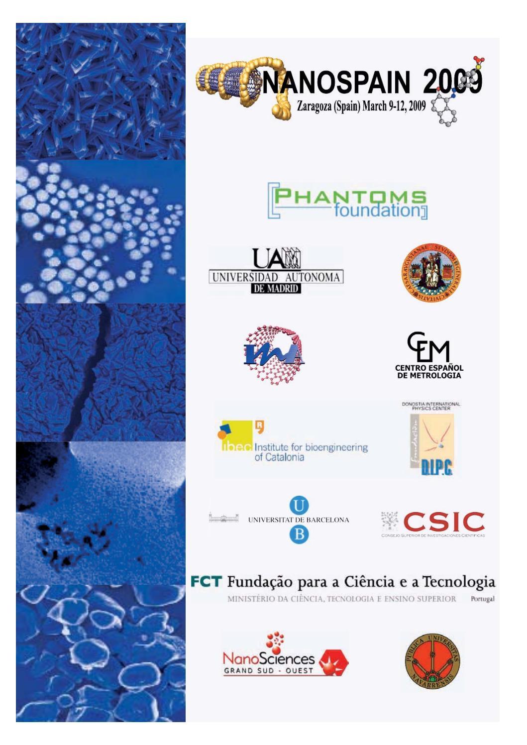 NanoSpain2009 Abstract book by Phantoms Foundation - issuu
