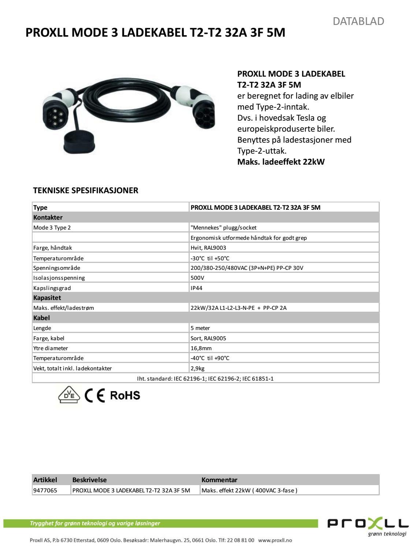 9477065 proxll mode 3 ladekabel t2 t2 32a 3 f by proxll. Black Bedroom Furniture Sets. Home Design Ideas