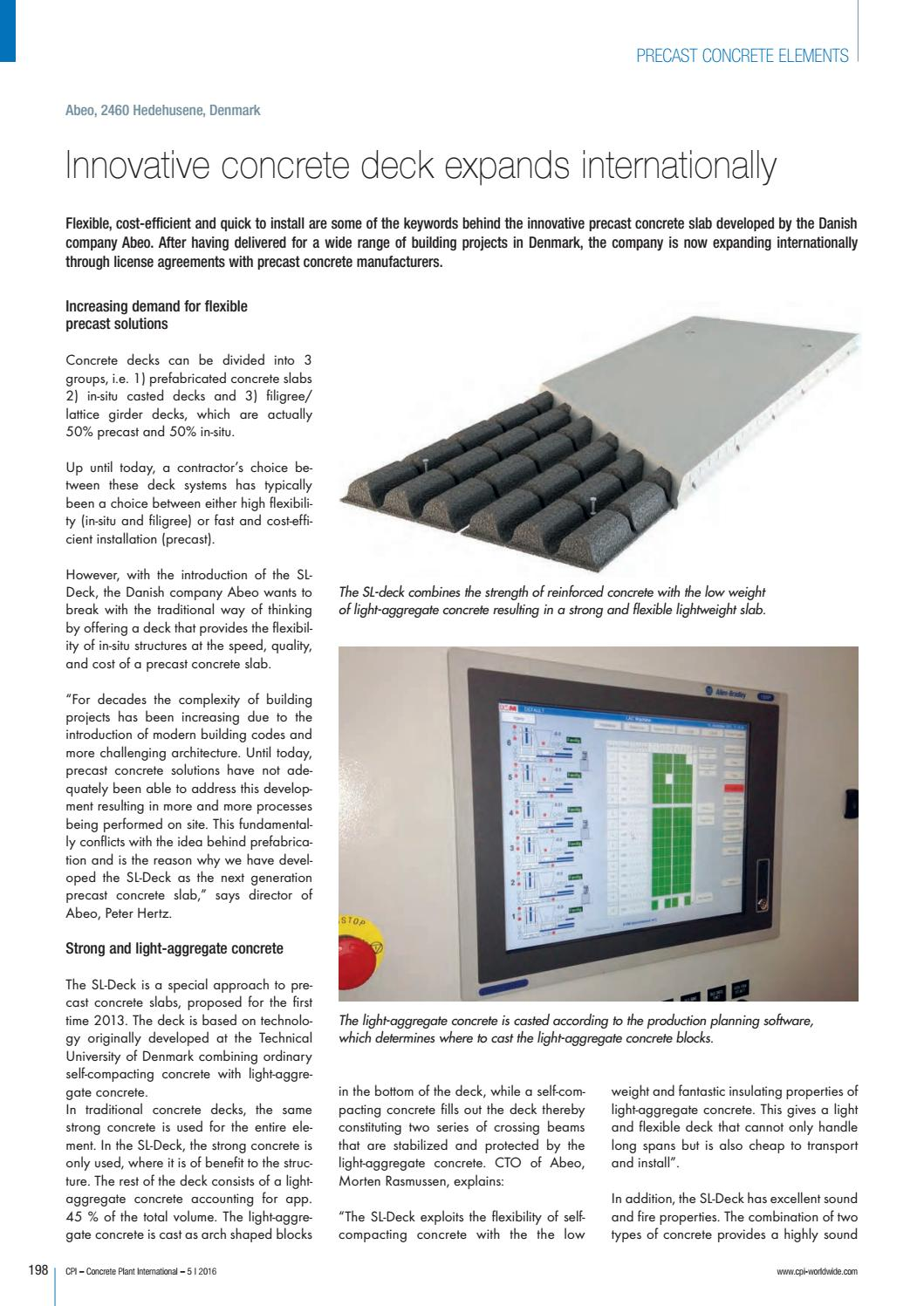 Innovative concrete deck expands internationally (english version)