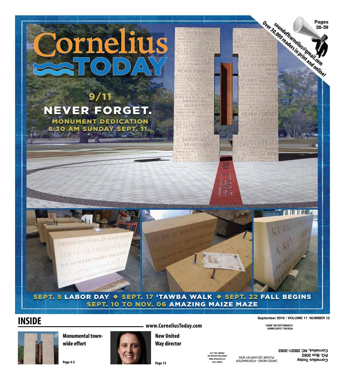 Cornelius Today - September 2016 by Business Today/Cornelius Today - issuu