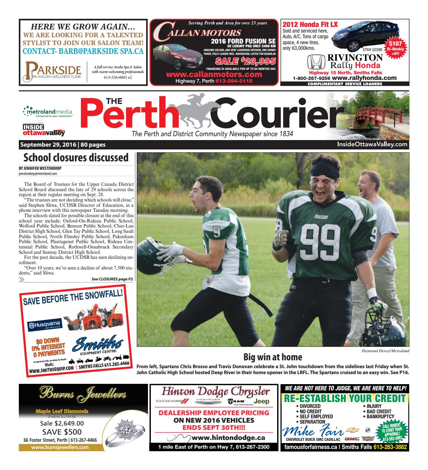9ad7e993e6 Perth092916 by Metroland East - The Perth Courier - issuu