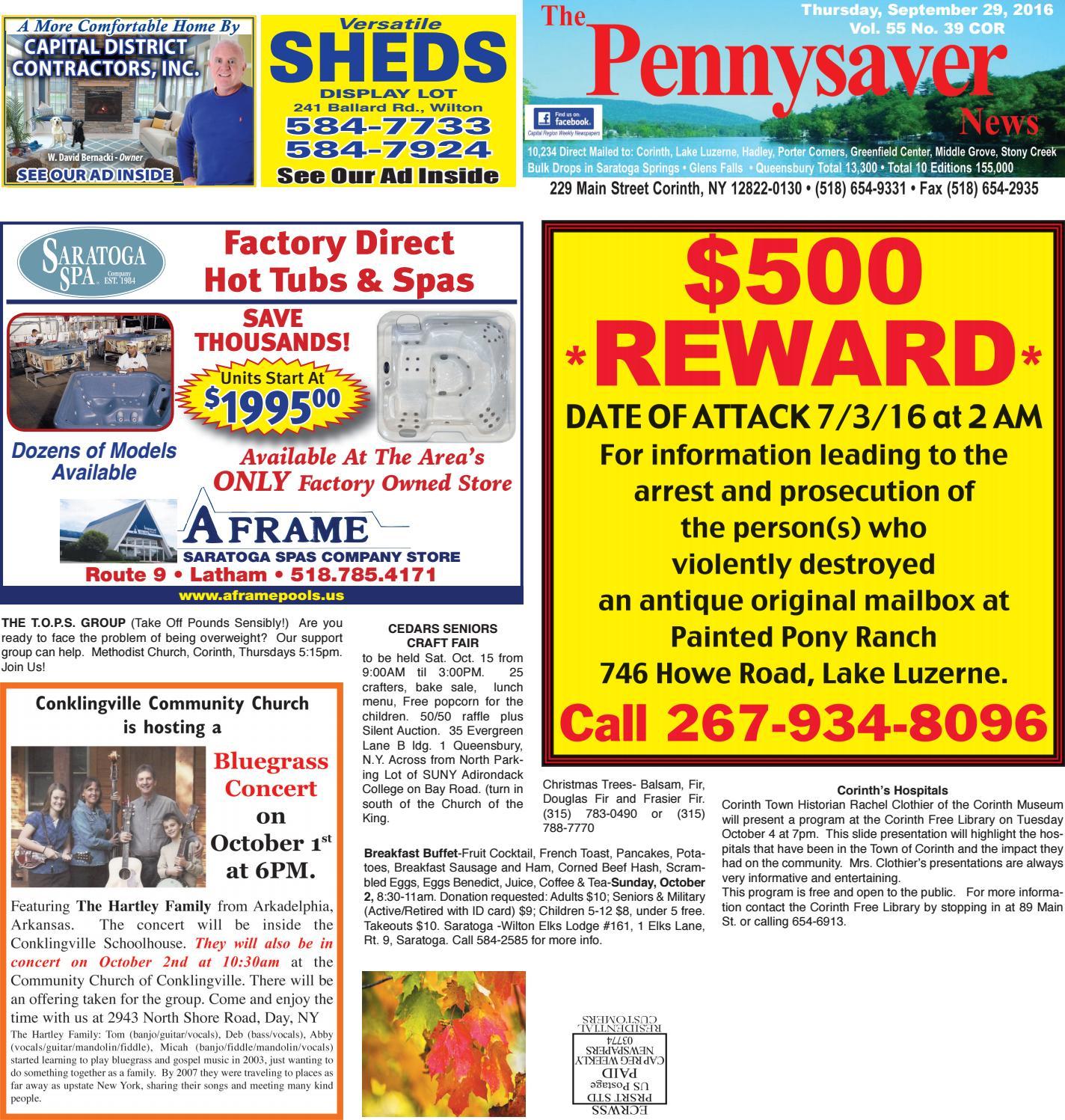 Corinth Pennysaver 092916 by Capital Region Weekly