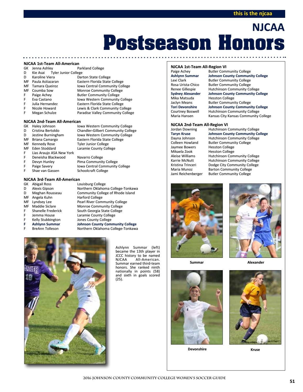 2016 JCCC Women's Soccer Guide by Chris Gray - issuu