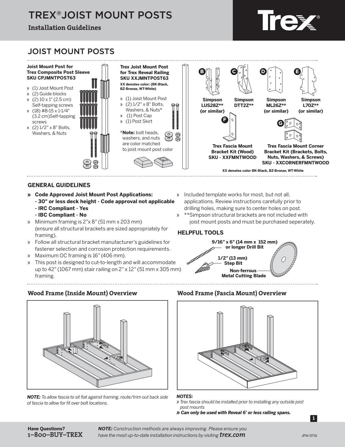 Trex Fascia Installation Instructions