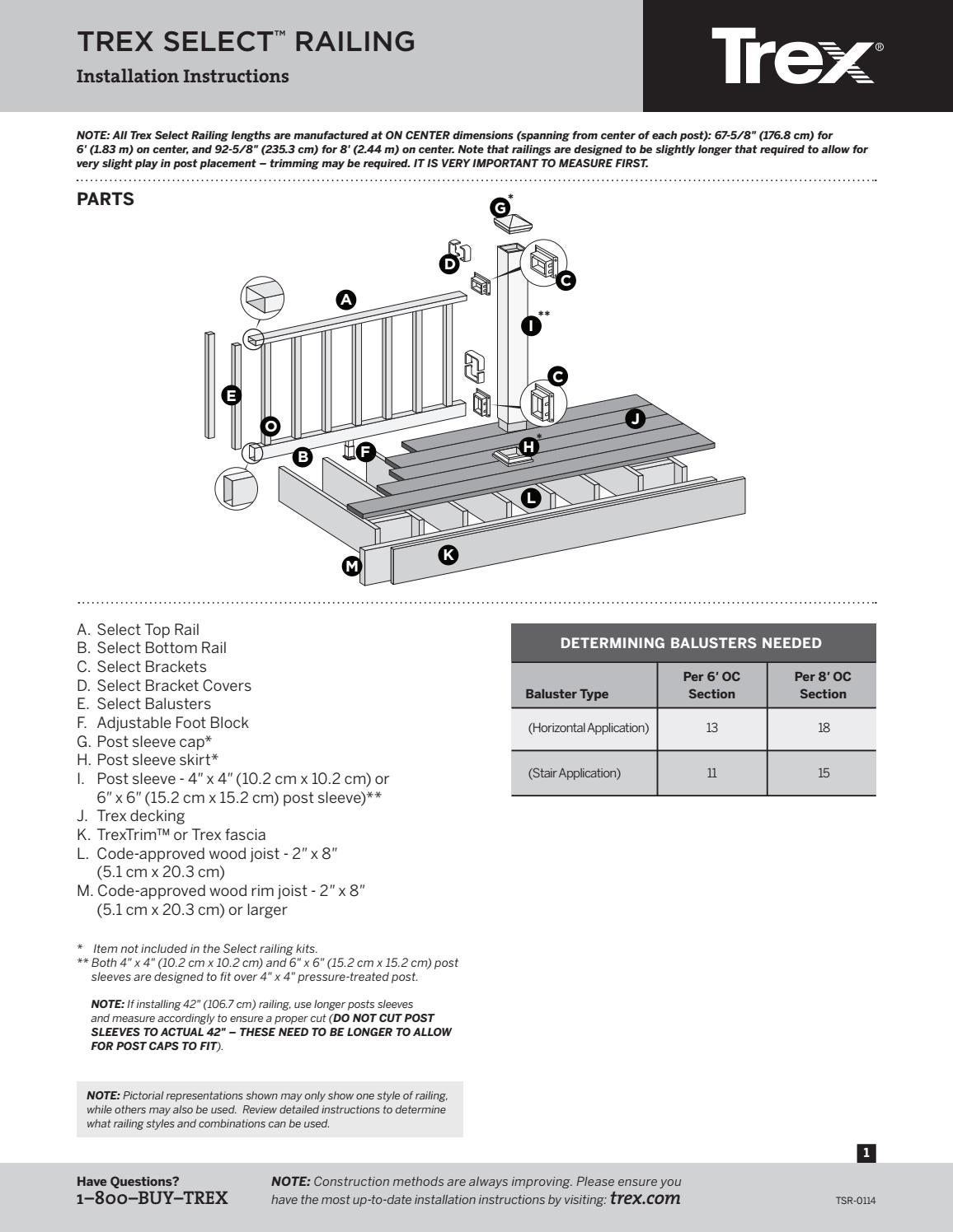 Trex Select Railing Installation Guide By TimberTown   Issuu