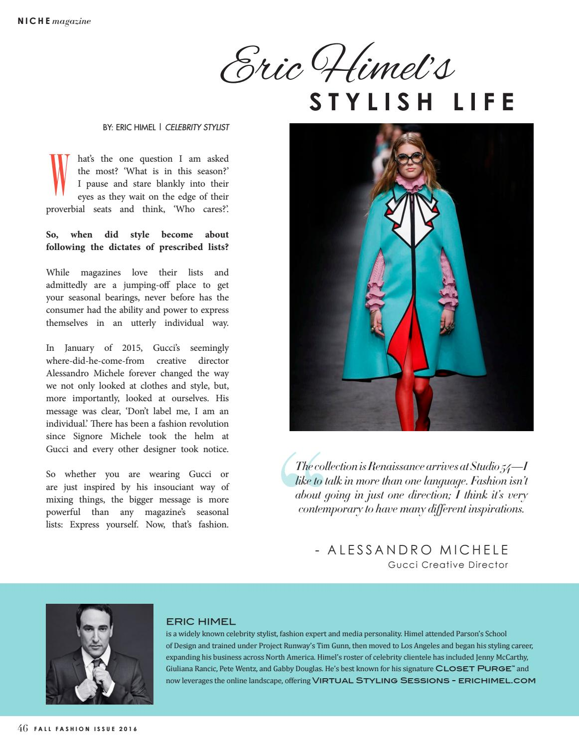 NICHE Fall Fashion Issue 2016 by NICHE magazine - issuu